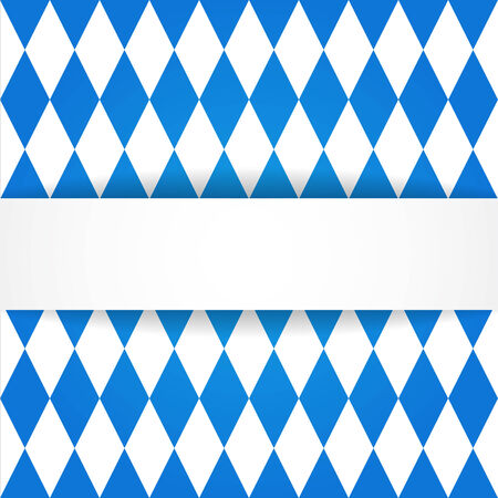 wiesn: Oktoberfest  background. Bavarian flag pattern.