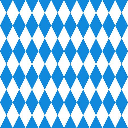 Oktoberfest  background. Bavarian flag pattern.  Vector