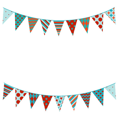 Bunting background in flat style.