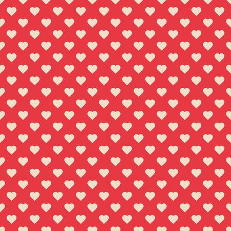 心を持つ赤のシームレスなパターン