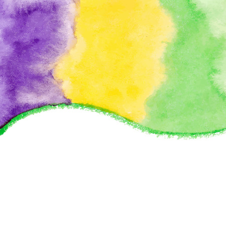 Watercolor paint vector background for Mardi Gras Vector