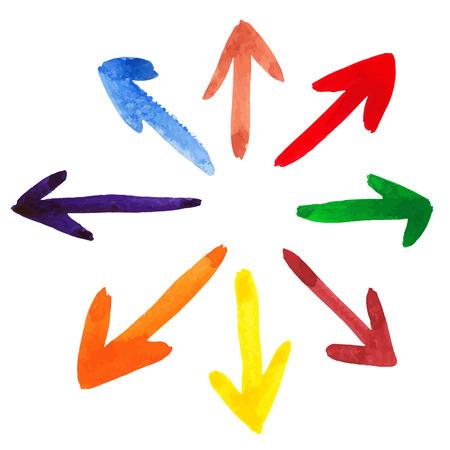 arrows vector: Vector arrows background.Brush stroke.