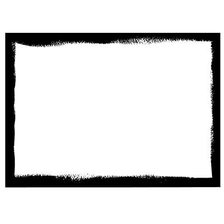 Black grunge frame Illustration