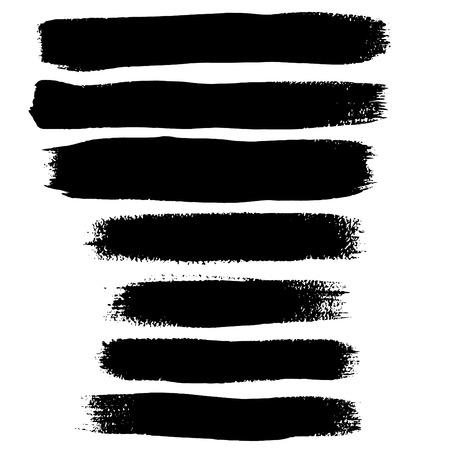 Zwarte inkt penseelstreken