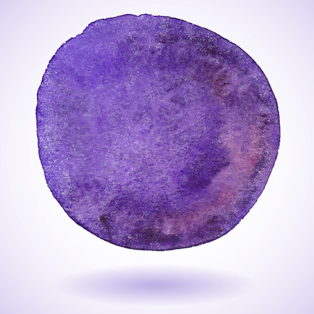 Violet isolated watercolor paint circle