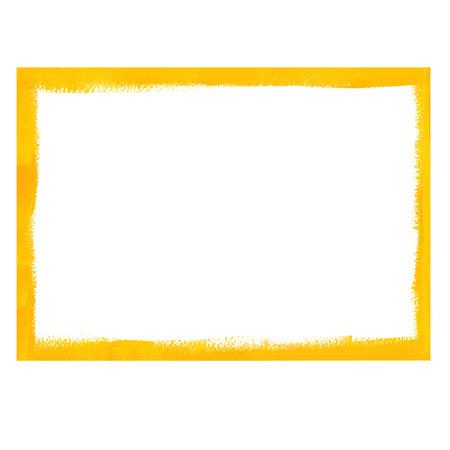 Gele grunge frame Stock Illustratie