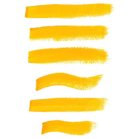 Yellow ink brush strokes