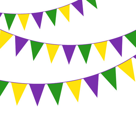 triangular banner: Mardi Gras party bunting