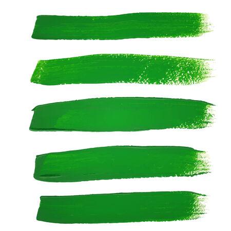 dripping paint: Green ink vector brush strokes Illustration