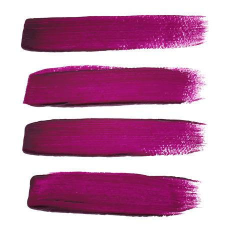Violet ink vector brush strokes Illustration