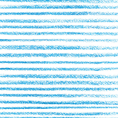 Blue crayon stripes pattern Vector