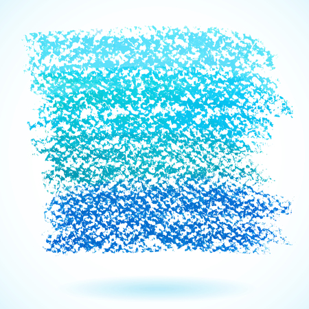 Blue pastel crayon spot, isolated on white background Vector