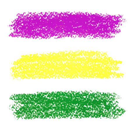 Vector Mardi Gras pastel crayon brush strokes Vectores