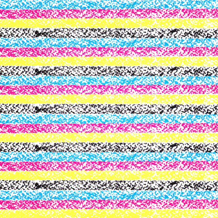 cmyk abstract: CMYK pastel crayon striped background