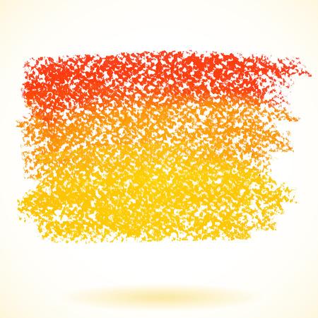 Orange pastel crayon spot, isolated on white background Illustration