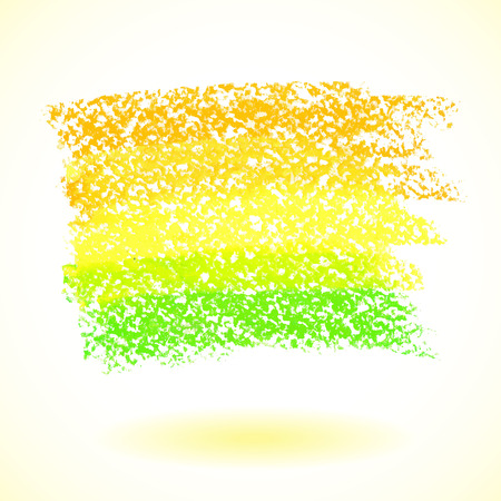 Yellow pastel crayon spot, isolated on white background Vector