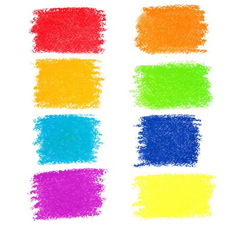 虹パステル クレヨン スポットには、白い背景で隔離の設定