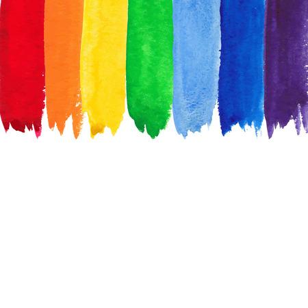 Watercolor rainbow backgound Vectores