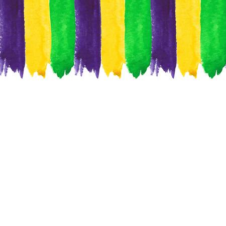 Mardi Gras watercolor invitation Vector