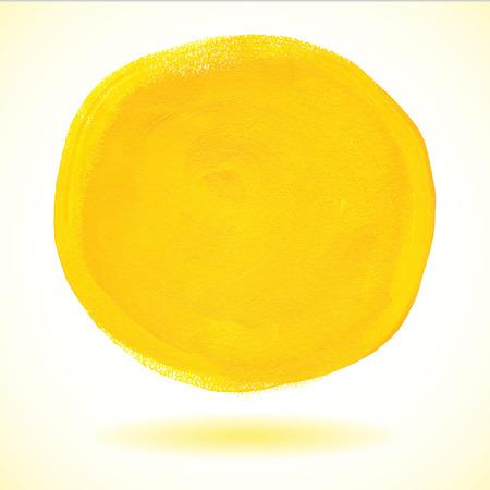 Gele acrylverf vector cirkel