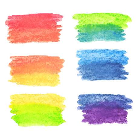 Vector set of rainbow watercolor banners Vector
