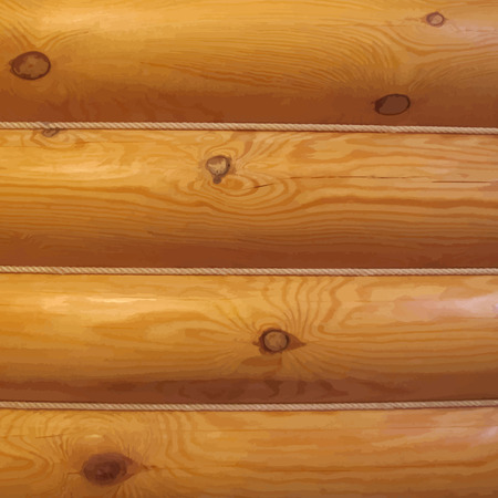 log wall: Wood log wall Illustration