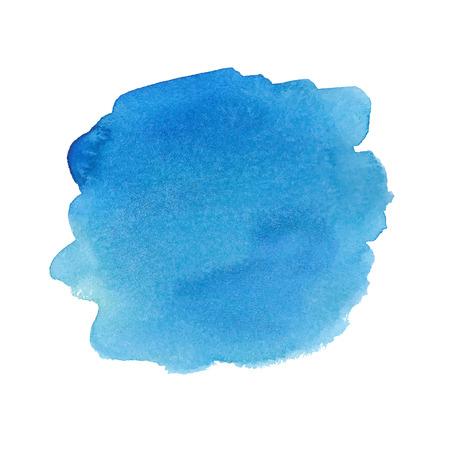 Blue watercolor spot. Vector illustration. Vector