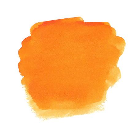 オレンジ色の水彩スポット