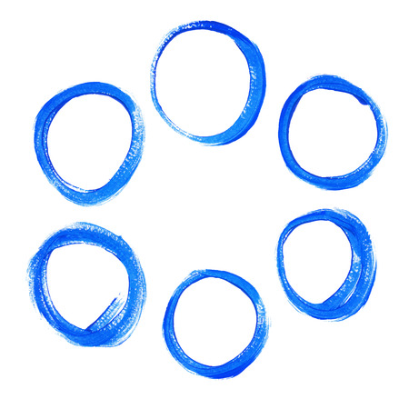 Set of blue acrylic round circles Vector
