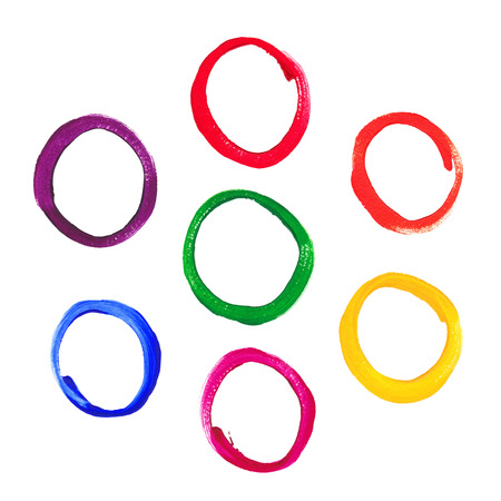 Color acrylic round frames Vector