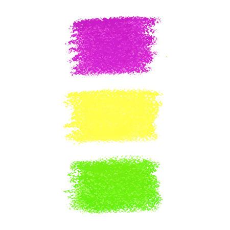 orleans: Mardi Gras pastel crayon spots