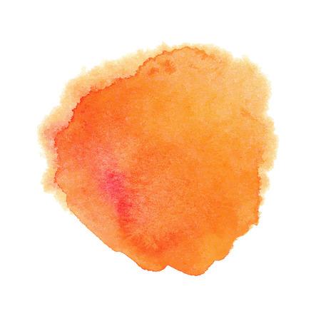 Orange watercolor spot Vectores