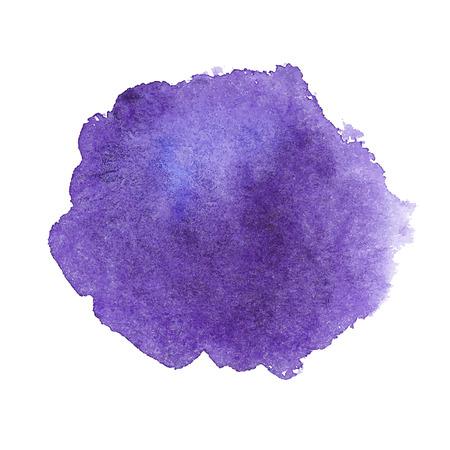 バイオレットの水彩スポット  イラスト・ベクター素材