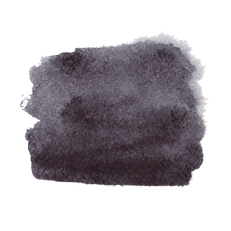 Black watercolor spot Vector