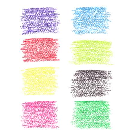 Set of colored pencil spots Vector
