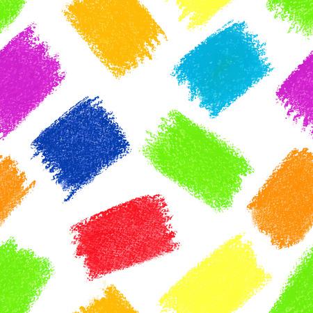 Seamless pattern background. Pastel crayon spots. Vector