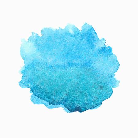 Heldere blauwe aquarel spot