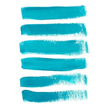 Turkoois inkt vector penseelstreken