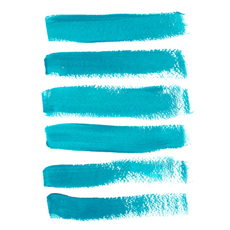 Turquoise ink vector brush strokes Vectores
