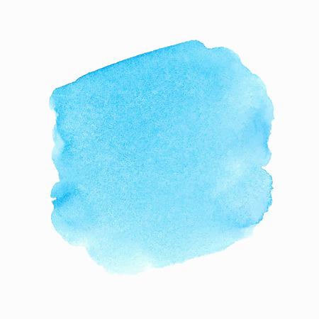 Bright blue watercolor spot 일러스트