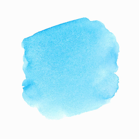 Bright blue watercolor spot Illustration