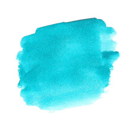 Turquoise watercolor spot
