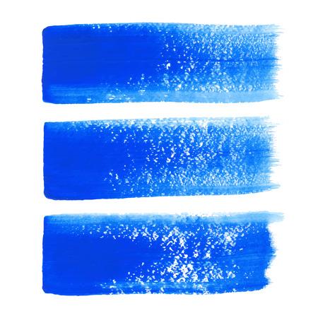 Blauwe inkt vector penseelstreken