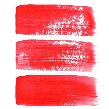 Rode inkt vector penseelstreken
