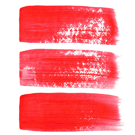 Red ink vector brush strokes Vectores