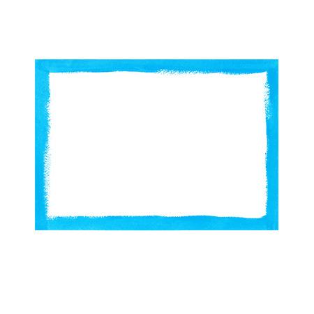 rough: Bright blue grunge frame Illustration
