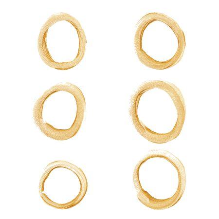 gold circle: Gold circle set Illustration