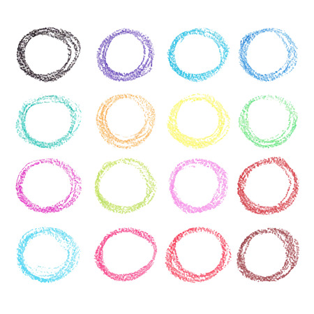 Crayon circle set. Illustration