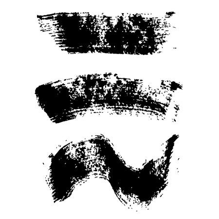マスカラーのブラシ ストローク セット  イラスト・ベクター素材