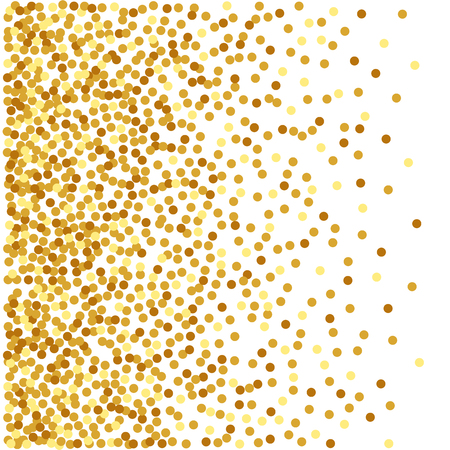 Kort gouden confetti achtergrond